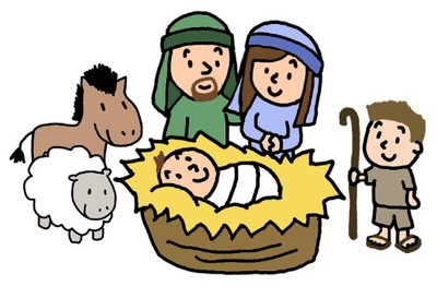 400x262 Nativity Scene Figures Clipart