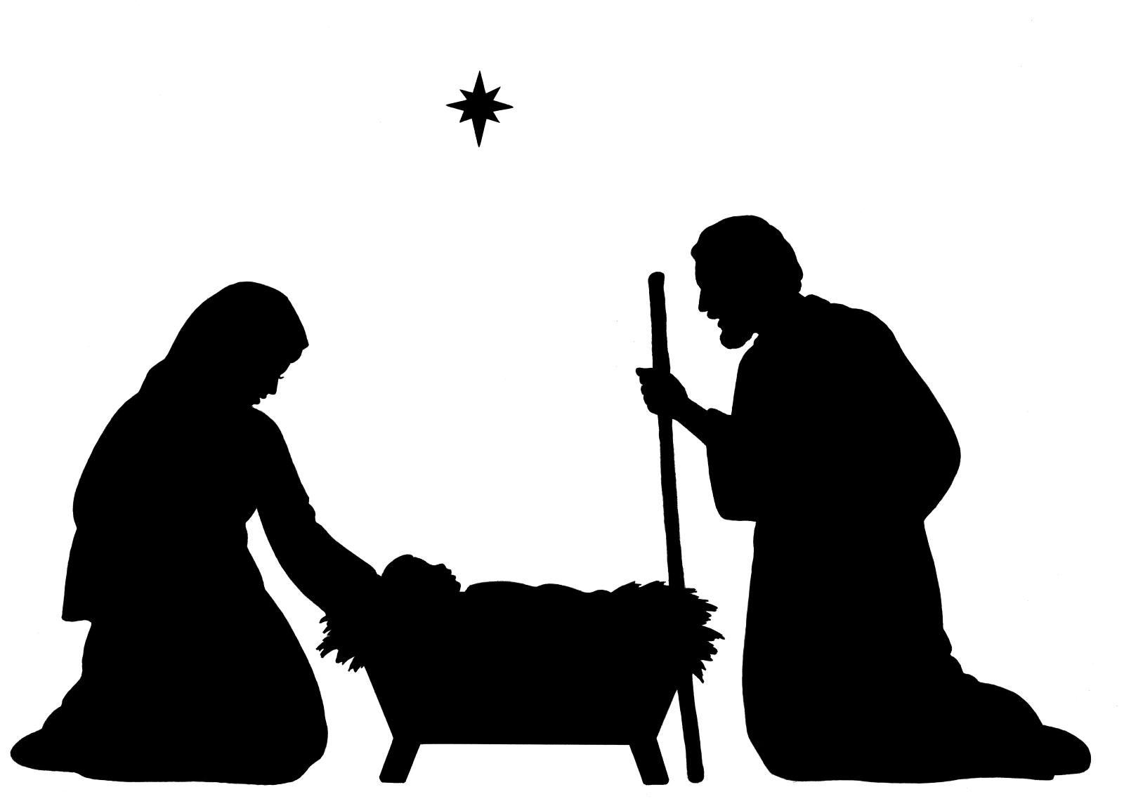 1600x1148 Best Silhouette Clip Art Christmas Border Clipart Nativity Pictures