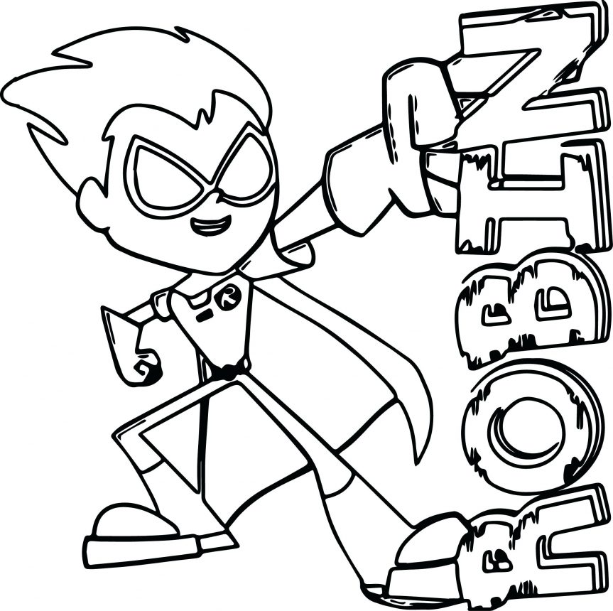 863x860 Dazzling Teen Titans Coloring Pages Image 3 For Kids Fall