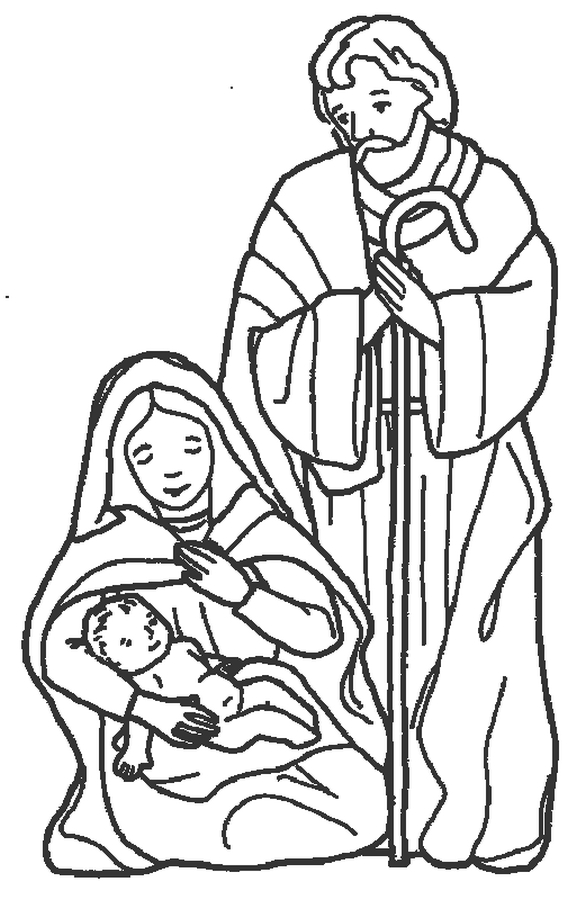 586x900 Nativity Coloring Pages