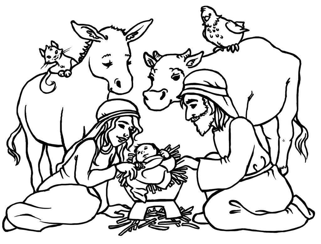 1024x780 Nativity Coloring Pages Printable Awesome Free Printable Nativity