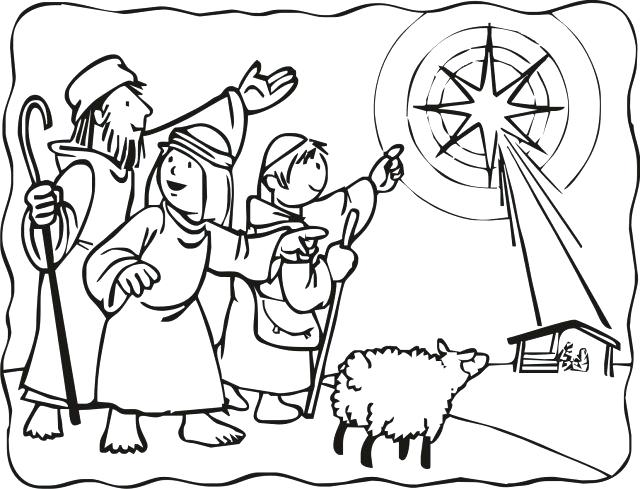 640x489 Para Nativity Coloring 8 Best Images On Pages