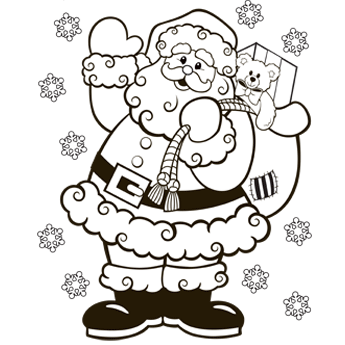 345x345 Santa Coloring Pages 2018 Z31 Coloring Page