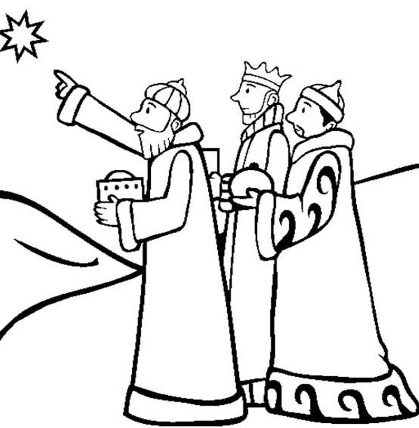 600x612 The Nativity Of Jesus And Three Kings Coloring Pages Batch