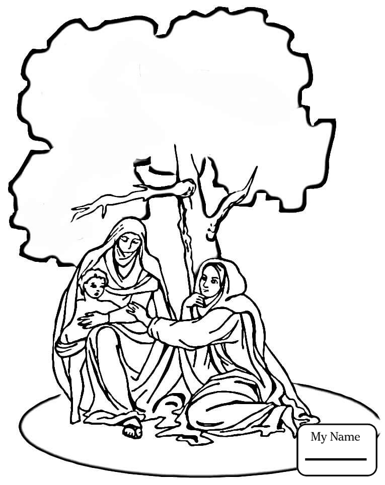 Nativity Coloring Pages Free