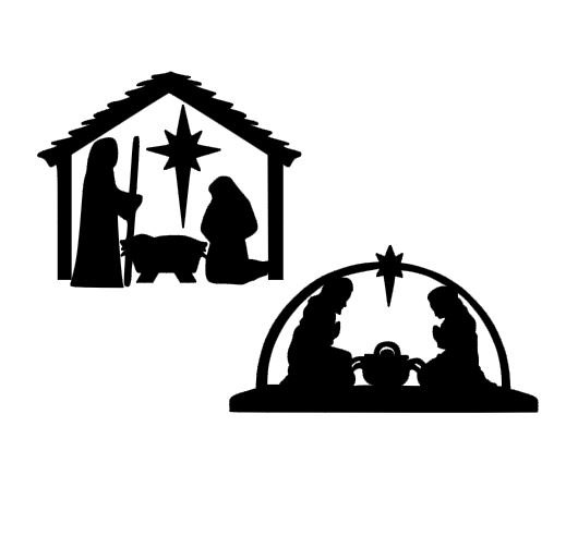 530x492 Christmas Nativity Scene SVG DXF EPS and pdf Cutting Files