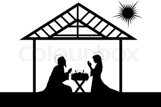 320x213 Funny Christmas nativity scene with holy family