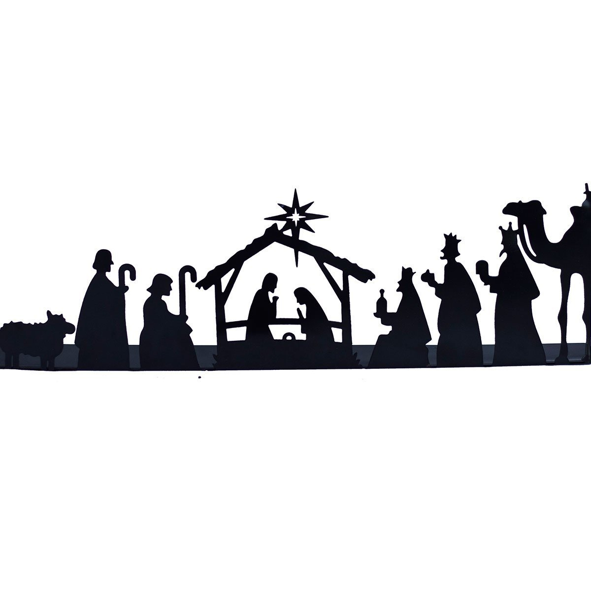 1200x1200 Metal Nativity Scene – Mira Fair Trade