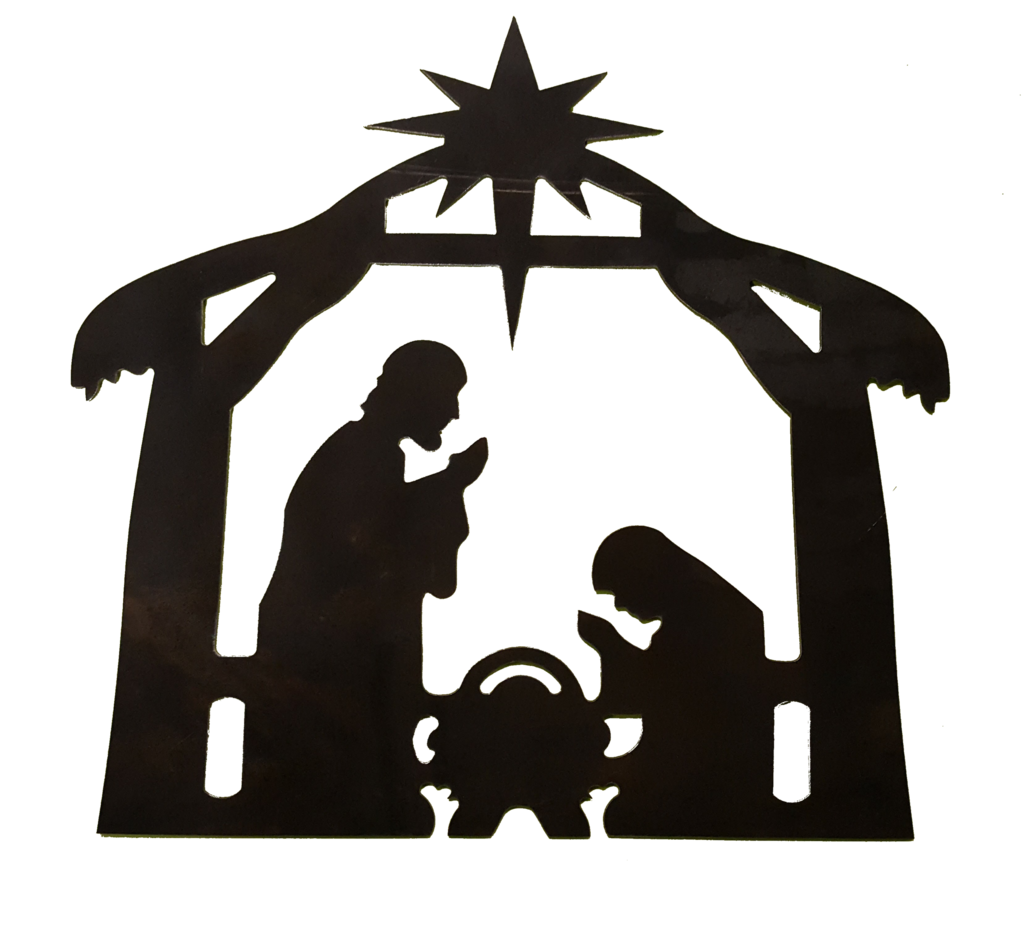 1024x925 Nativity Scene (ADDITIONAL SIZES AVAILABLE) – Metal Art Now