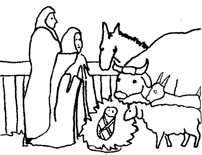 647x497 Nativity Scene Clipart