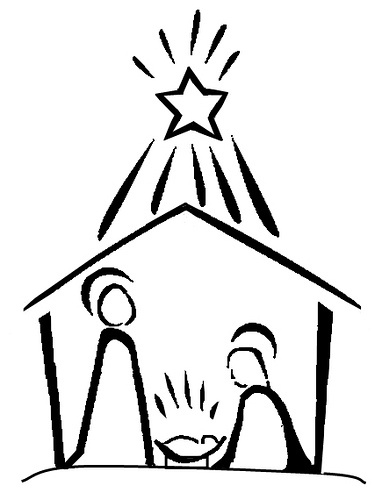 382x500 Nativity Scene Nativity Drawing – Merry Christmas amp Happy New Year