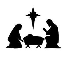 230x230 Vinyl Nativity Manger Scene, Vinyl Christmas