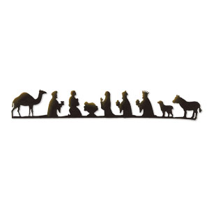 300x300 Black And White Nativity Border – Merry Christmas amp Happy New Year