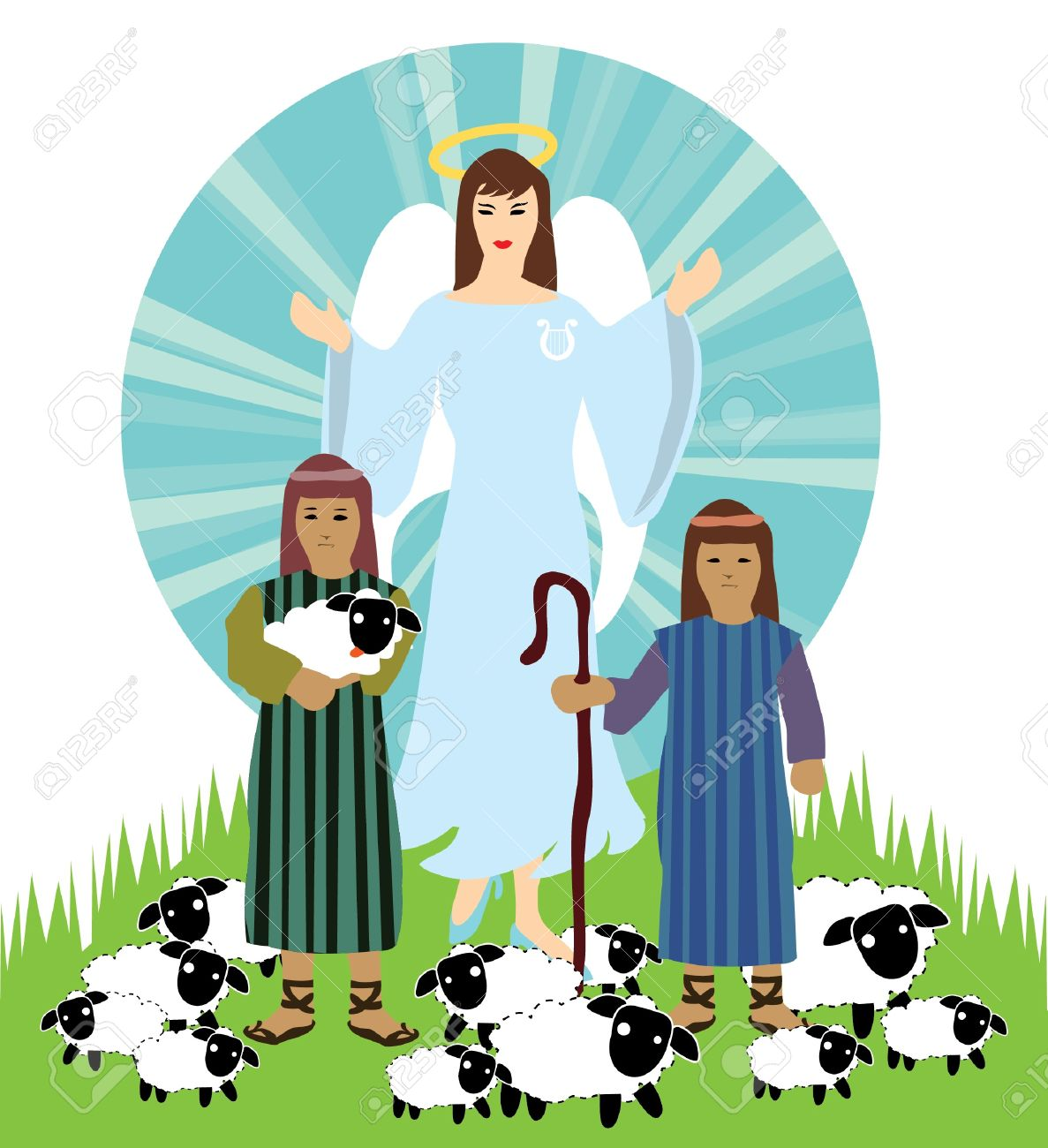 1187x1300 Christmas Pictures Clip Art Angels And Shepherds Photo World