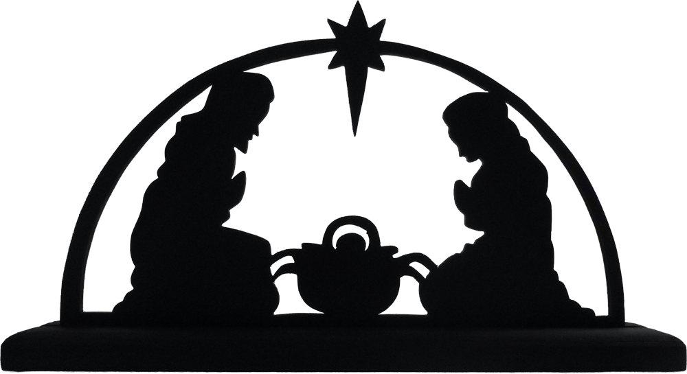 1000x545 Nativity Scene Silhouette Clip Art