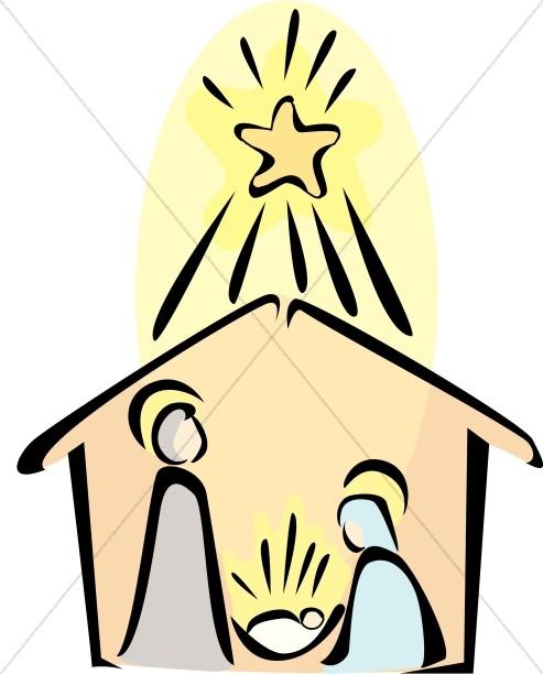 493x612 Simple Clipart Nativity Scene