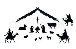 320x205 Christmas Nativity Scene With Holy Family