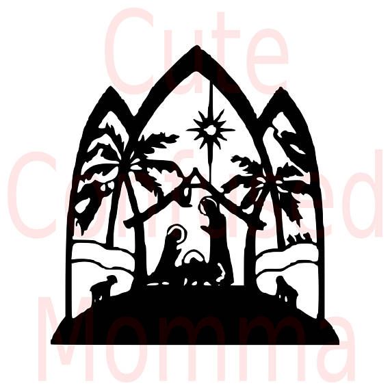 570x570 Nativity Svg Nativity Scene Svg Christian Svg Manger Svg