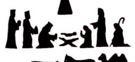 272x125 Nativity Black And White 8 Free Clip Art Nativity Scene Silhouette