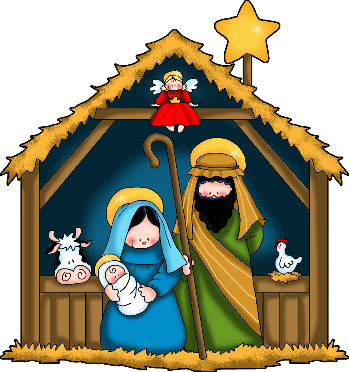 1125x1200 Nativity Clip Art Black And White Free Free