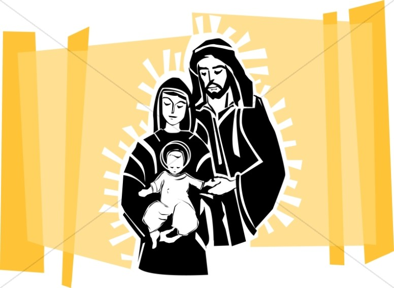 776x568 Baby Jesus And Parents Nativity Clipart