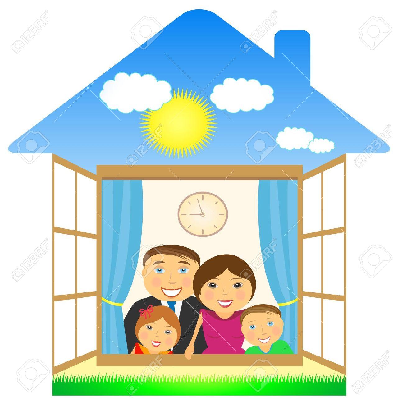 1281x1300 Familie Haus Clipart
