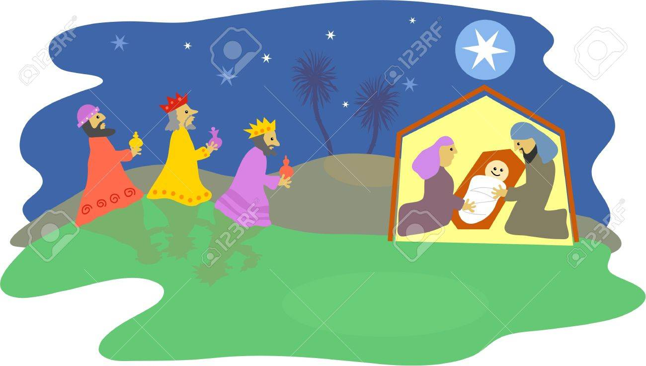 1300x736 Christmas Nativity Scene Stock Photo, Picture And Royalty Free