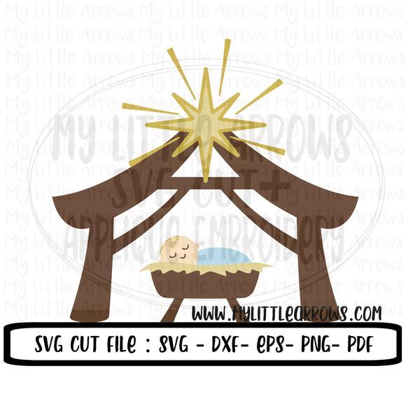580x580 Nativity Svg Christmas True Love Svg Manger Svg Nativity Dxf