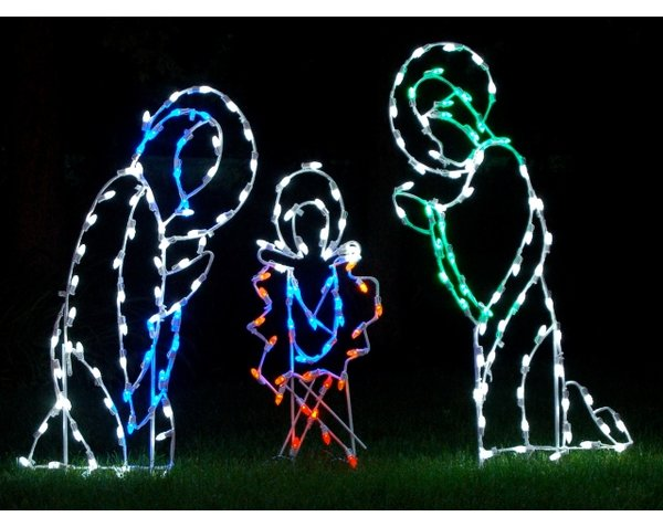600x477 Queens Of Christmas Nativity Scene Led Light Christmas Decoration