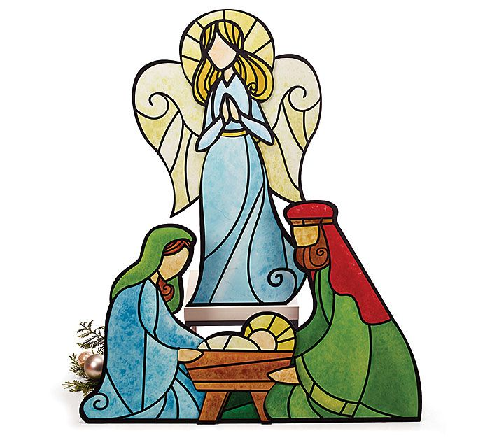 700x629 Stained Glass Clipart Nativity Scene