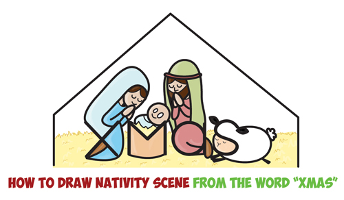 500x292 Draw A Nativity Scene Archives