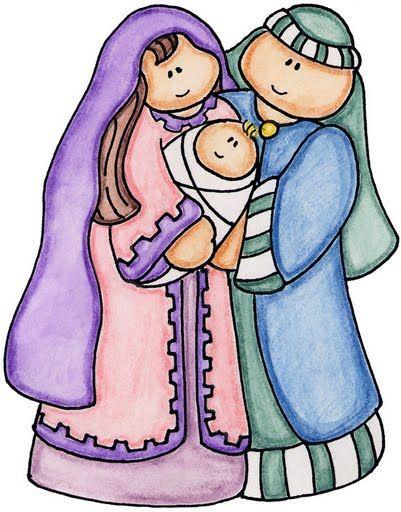 401x512 Clipart Christmas Borders Mary Baby Jesus