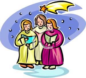 300x270 Art Image Women Singing Christmas Carols