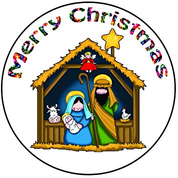 355x355 Akgifts Nativity Scene Cake Topper