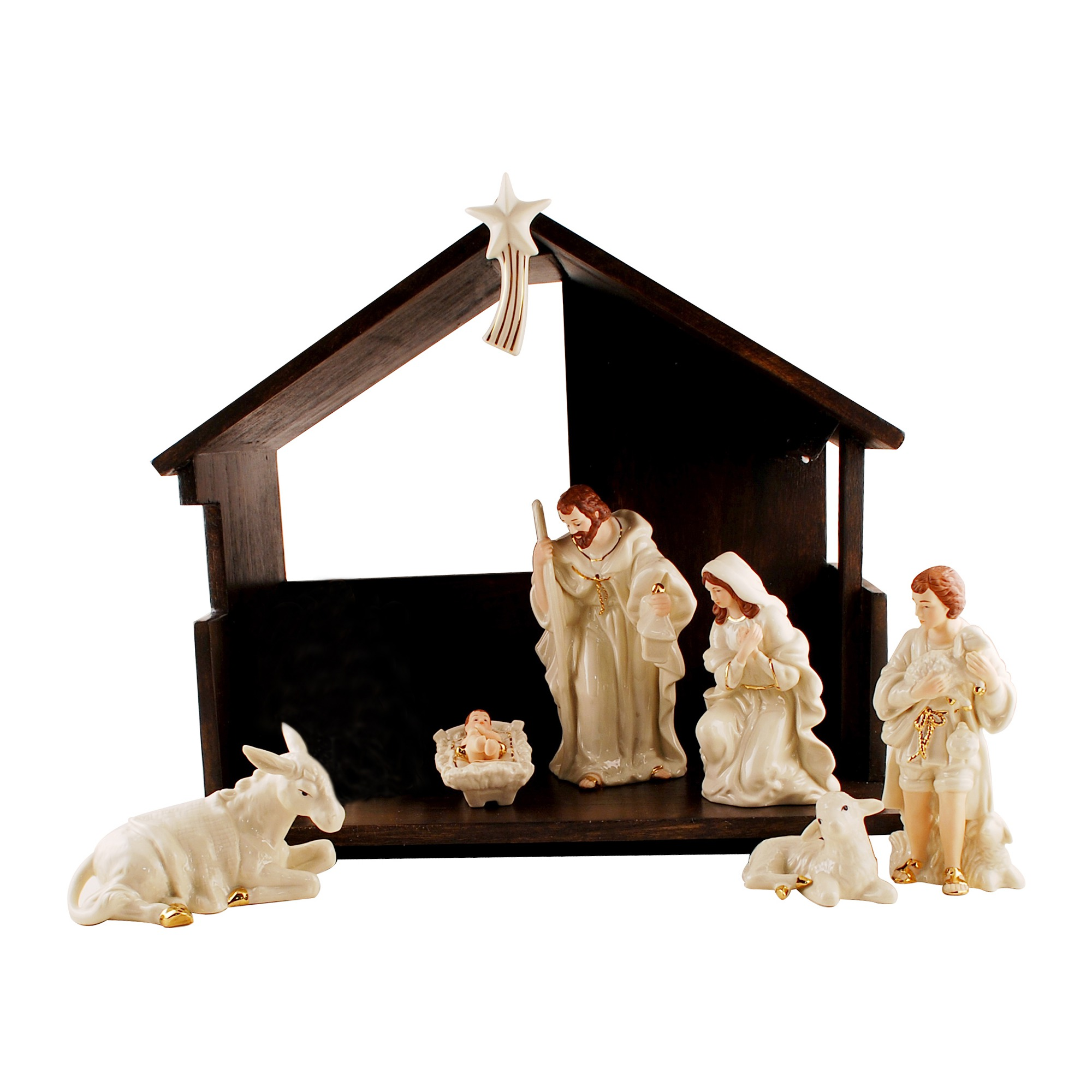 2000x2000 Belleek Classic Nativity Set The Catholic Company