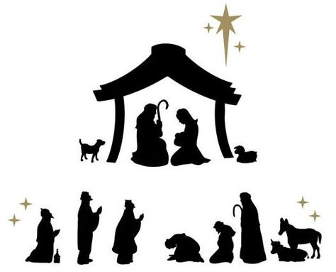474x383 Nativity Scene Decals By Davet Designs Crochet Snowflakes