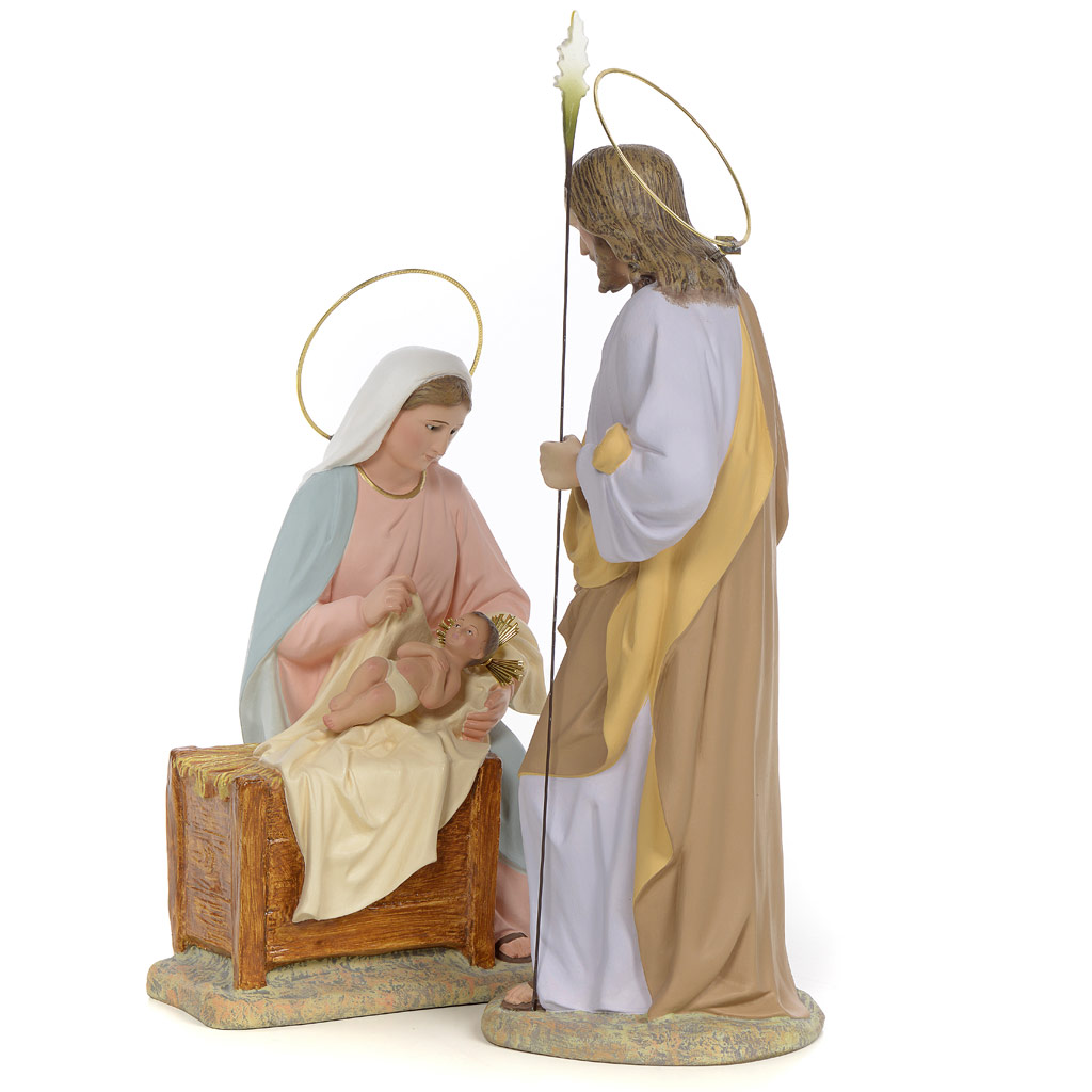 1024x1024 Nativity Scene In Wood Pulp, 40cm (Fine Decoration) Online Sales