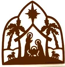 222x227 Nativity Silhouette Cutout