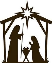 205x246 Collection Of Christmas Nativity Silhouettes Including Angel