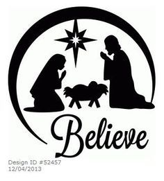 236x261 Printable Nativity Silhouette Wood Burning 3