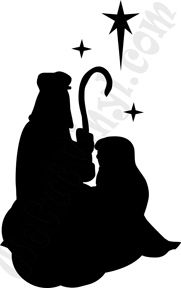 181x288 Vinyl Wall Decal Nativity Set