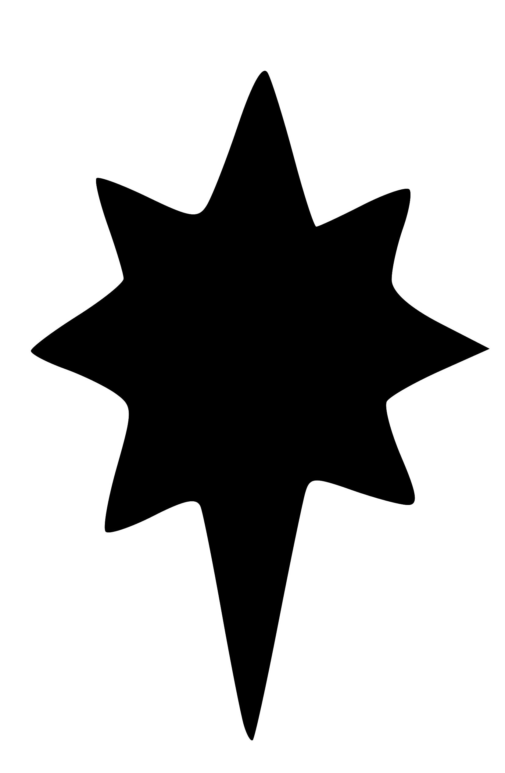 1656x2535 Image Christmas Star Silhouette Clip Art Image