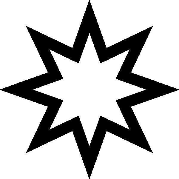 600x600 Star Outline Clip Art