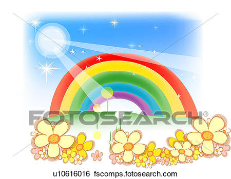 450x349 Clip Art Of Nature, Flower, Seasons, Rainbow, Spring, Natural
