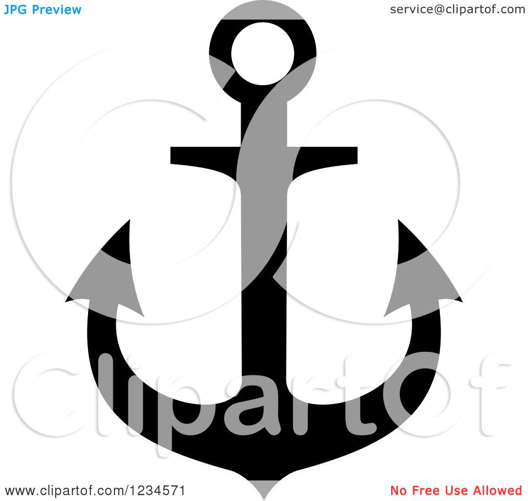 1080x1024 Black Anchor Clipart