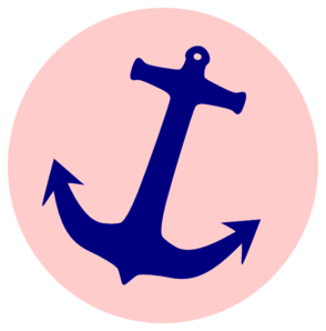 294x298 Nautical Anchor With Rope Clipart