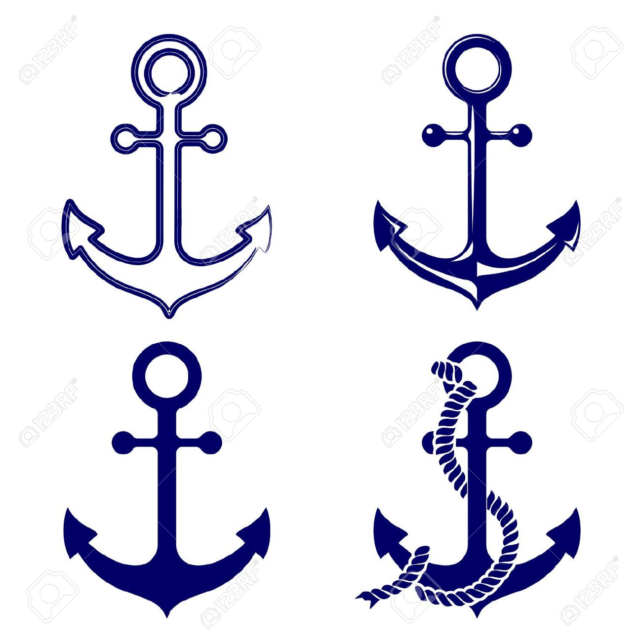 1300x1300 Navy Clipart Anchor Rope