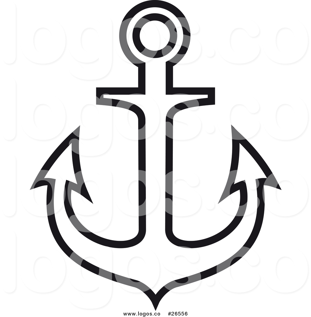1024x1044 Royalty Free Vector Logo Of A Large Nautical Anchor Outline By