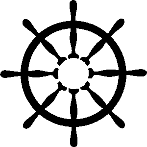 300x300 Ship Wheel Clipart Black And White Clipartfest