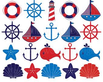 340x270 Nautical Clipart, Nautical Clip Art, Boat Clipart, Anchor Clipart